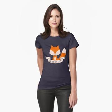 camiseta blusa feminina raposa azul marinho 100% algodao