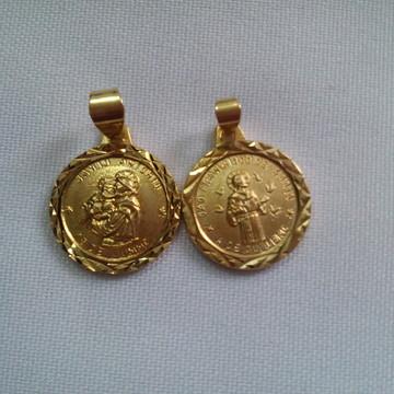 Pingente de São Francisco de Assis e Santo Antonio de Pádua
