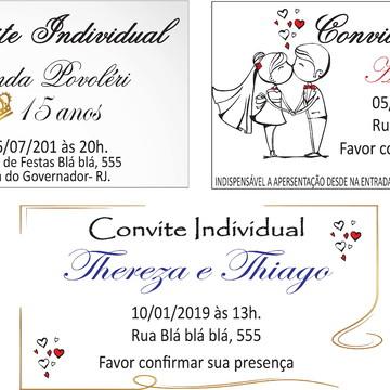 Convite INDIVIDUAL - IMPRESSÃO FOTOGRÁFICA