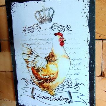 Quadro para cozinha - Galinha Vintage