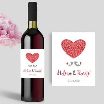 Rótulo para garrafa de Vinho Pombinhos