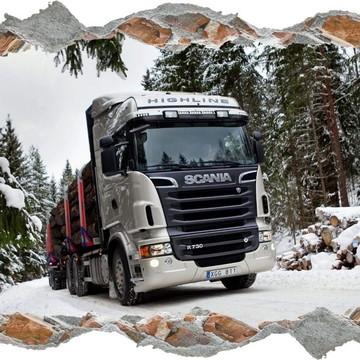 Adesivo Decorativo Caminhões Estrada Parede Quarto Adulto M4