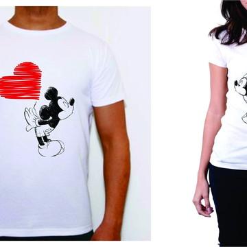 camisetas namorados Minnie Mikey