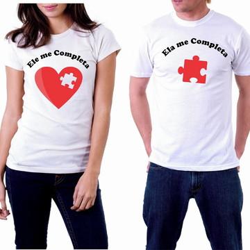 camiseta dia dos namorados ele me completa ela me completa
