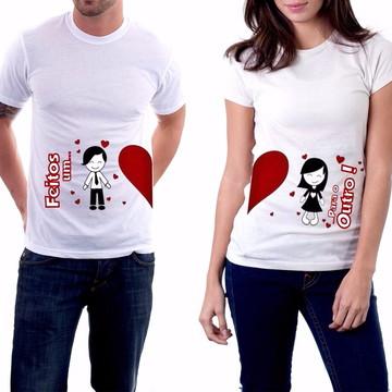 camiseta dia dos namorados feitos um para o outro