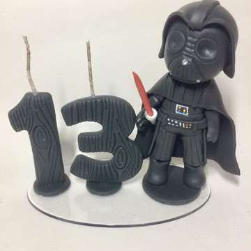 Topo de bolo Darth Vader Star Wars biscuit