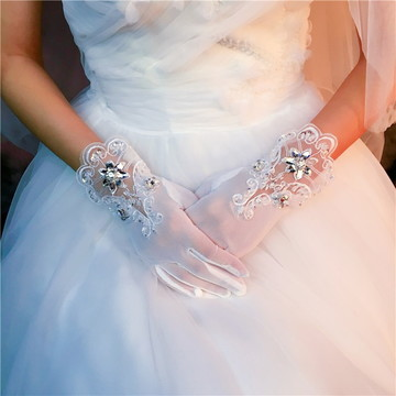 Luvas para Noiva Luxo ref 03