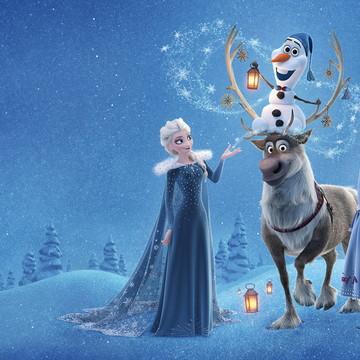 Faixa decorativa em adesivo da Frozen