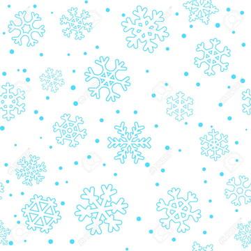 Faixa decorativa em adesivo de Floco de Neve