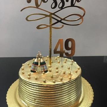 Topo de bolo - DOURADO