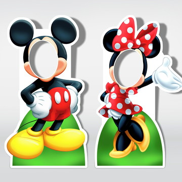 Cenário Para Fotos Mickey e Minie