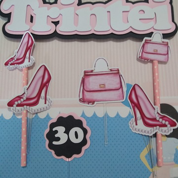 Topo de bolo 30 anos