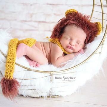 conjunto newborn croche leaozinho, recem nascido