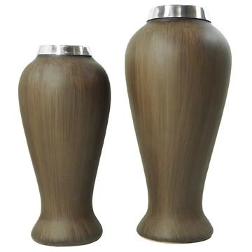 Vasos Decorativos de Cerâmica African (Dupla)