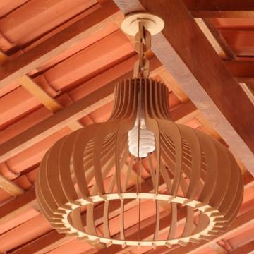 Luminária pendente rústico 45cm