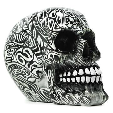 Crânio Esqueleto Caveira Resina Tribal Leve