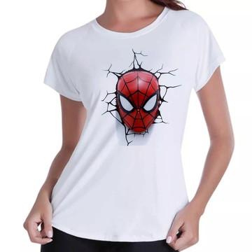 be6348ce6 Camiseta Camisa Blusas Femininas Homem Aranha 3D Mascara