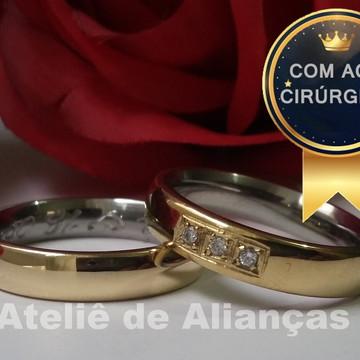 Alianças de Noivado Casamento de Moeda Antiga