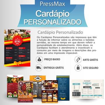 Cardápio PVC 0,5mm Verniz FR/VR 30x45 1 Folha 2 Un.