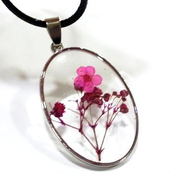 Pingente de Orgonite flores rosas