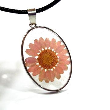 Pingente de Orgonite resina flor 4cm