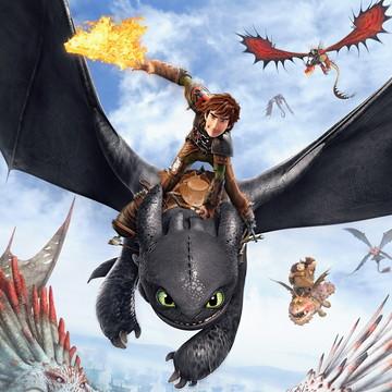 Faixa decorativa para quarto tema Como treinar seu dragão