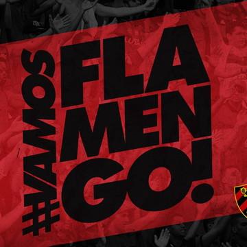 Faixa decorativa em adesivo do Flamengo