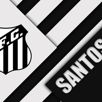 Faixa decorativa em adesivo do Santos