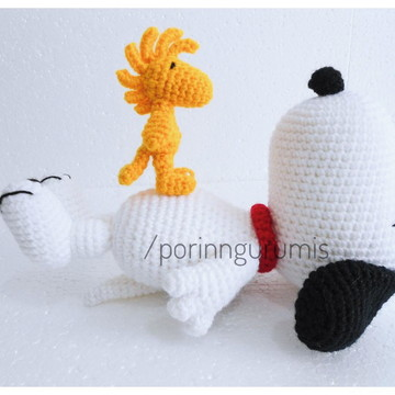 Amigurumi Snoopy and Woodstock