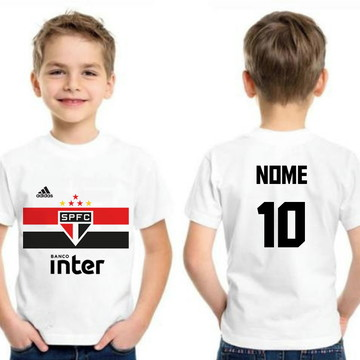 Camiseta São Paulo Infantil Personalizada