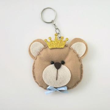 Lembrancinha Maternidade Chaveiro de Feltro Urso Príncipe