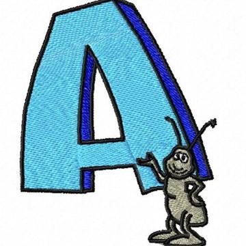 Matriz Bordado Alfabeto Animais
