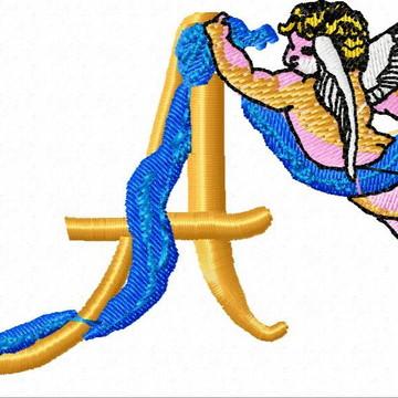 Matriz Bordado Alfabeto Anjos