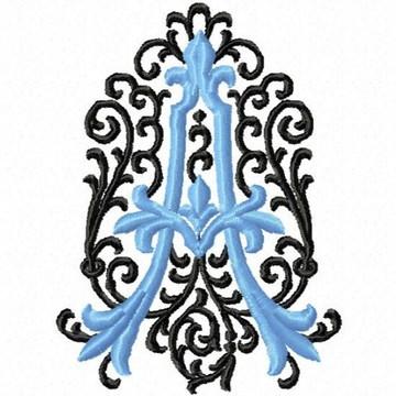 Matriz Bordado Alfabeto Arabesco