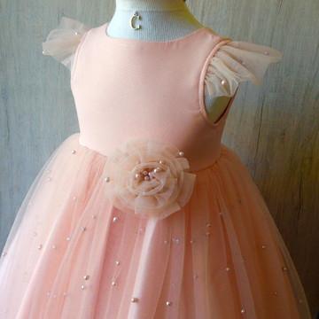 b7e20ea8dc Vestido Infantil Girassol 4 Anos