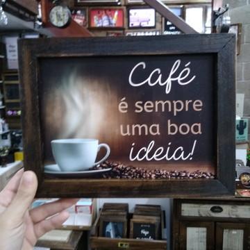 Quadro decorativo 18x24 cm Café é sempre uma boa ideia II