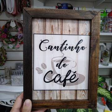 Quadro decorativo 18x24 cm Cantinho do café