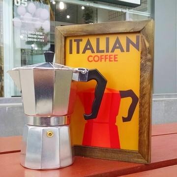 Quadro decorativo 18x24 cm Italian Coffee - Café italiano
