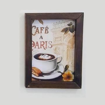 Quadro decorativo 18x24 cm Café Paris