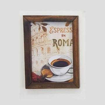 Quadro decorativo 18x24 cm Café Roma