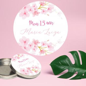Adesivo Para Latinha Mint To Be Cerejeira