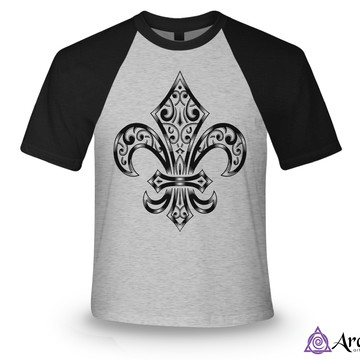 Camiseta Raglan - Flor de Lis