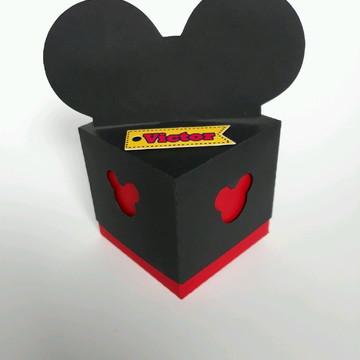Arquivo de Corte Caixa cubo com orelhas mickey