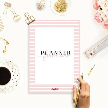 Planner Financeiro Digital – Rosa