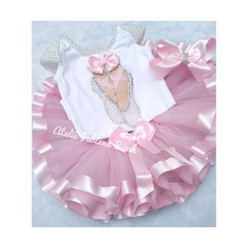 e49b84e88a Fantasia Tutu Dora Bailarina Rosa