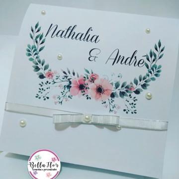 Convite Caixa Padrinho e Madrinha de Casamento