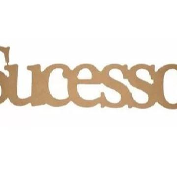 Palavra Decorativa Sucesso - Medida: 51,5cm x 13,5cm x 15mm