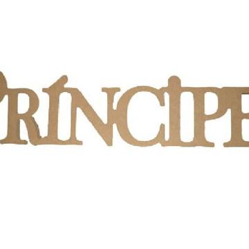 Palavra Decorativa Príncipe - Medida: 56cm x 13,5cm x 15mm