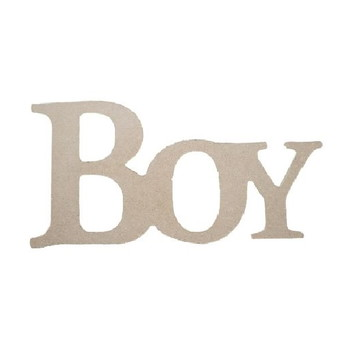 Palavra Decorativa Boy - Medida: 26cm x 13,5cm x 15mm
