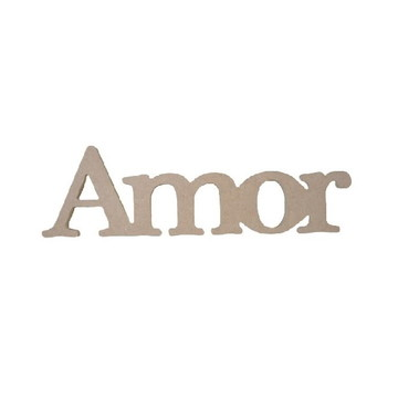 Palavra Decorativa Amor - Medida: 41,5cm x13,5cm x15mm